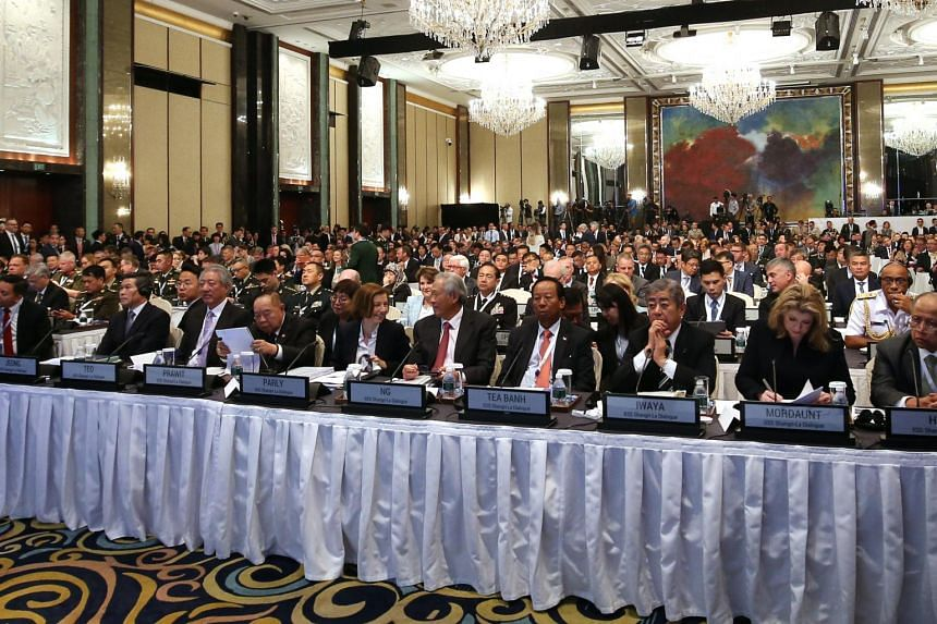 The first plenary session of the 18th Shangri-La Dialogue in 2019.