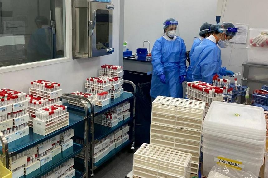 The daily average number of swabs Parkway Laboratories received the past two weeks were almost double that from a month ago.