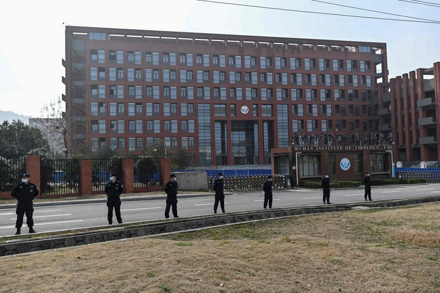 The Wuhan Institute of Virology in China's central Hubei province during a visit by members of the WHO team on Feb 3, 2021.