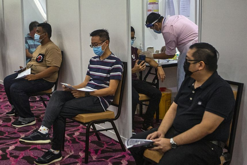 Just under 3 per cent of Malaysia's population is fully vaccinated.