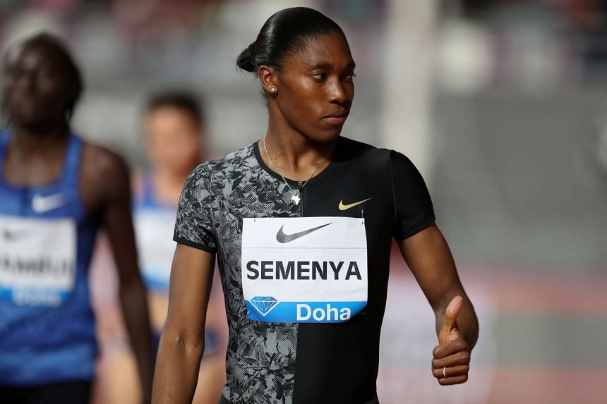 Semenya (above) is barred from competing in the 800m due to World Athletics' testosterone-reducing regulations.