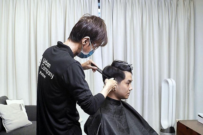 You could get a haircut at home with Urban Company's services.
