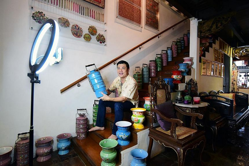 """Mr Alvin Yapp, owner of The Intan, a private home museum dedicated to Peranakan culture, says private museums must """"remain relevant to the community"""". PHOTO: PA FRENZ"""