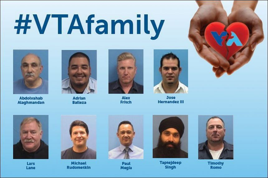 Photos of the victims were sent out by the VTA in a remembrance post.on Twitter.