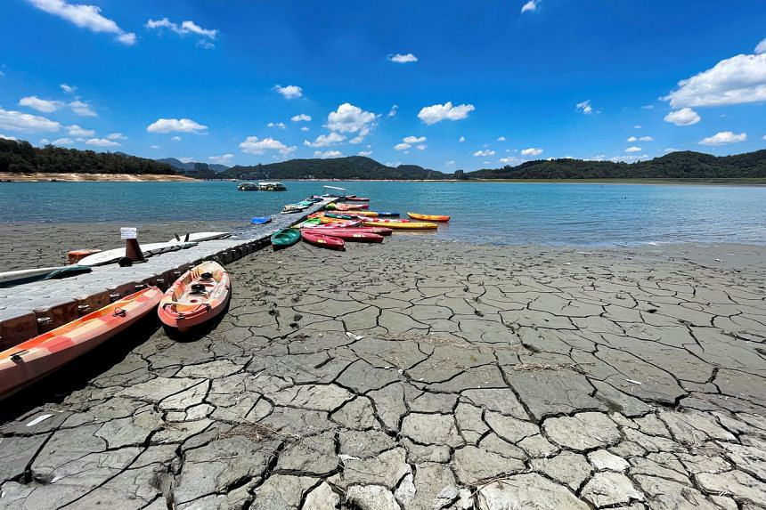 A months-long drought has nearly drained Taiwan's major reservoirs.