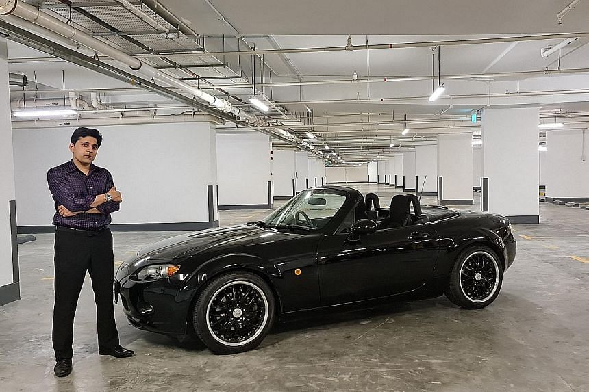 The $82,000 third-generation Mazda MX-5 was partially funded by Dr Pinakin V. Parekh's winnings from the game show, Deal Or No Deal.