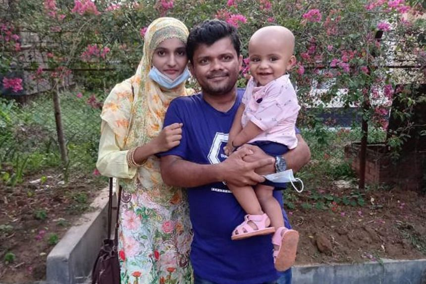 Mr Raju Sarker with his wife Sanjida Akhter and their son Safuan.