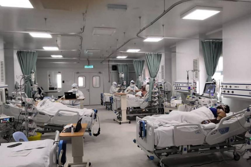The usage of ICU beds for Covid-19 patients is now at 104 per cent capacity.