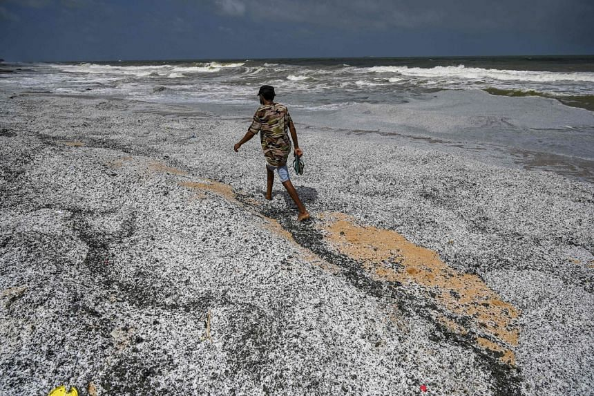 Tonnes of microplastic granules have inundated Sri Lanka's famed beaches.