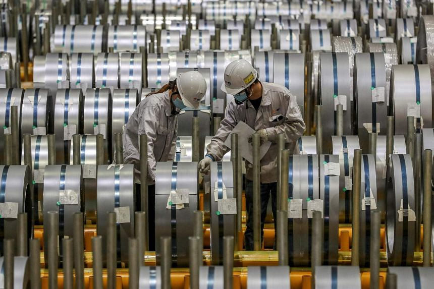 In April, both output and profits at China's industrial firms grew at a slower pace.
