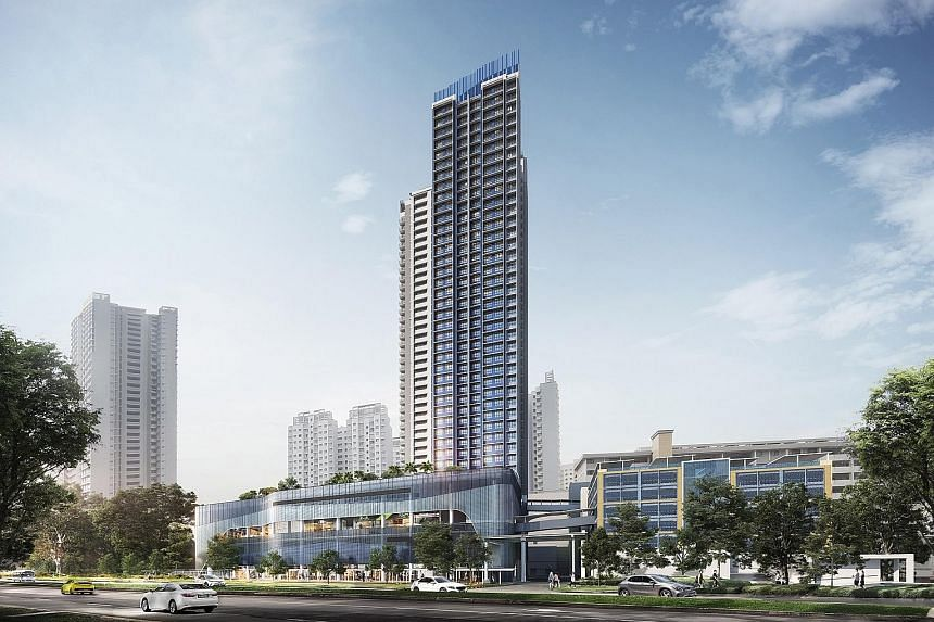 Prices for Telok Blangah Beacon's four-room flats, which are within walking distance of Telok Blangah MRT station, range from $602,000 to $710,000. PHOTO: HDB
