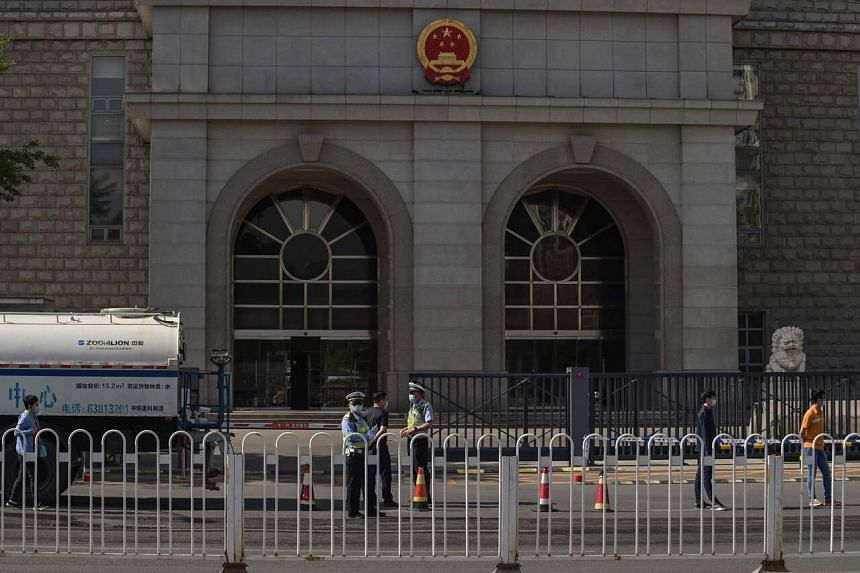 China said Yang Jun's trial was handled in accordance with Chinese laws and that his legal rights were protected.