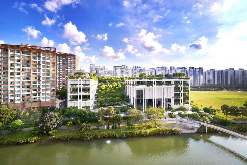 """Punggol town is planned and designed to be a """"Waterfront town of the 21st century""""."""