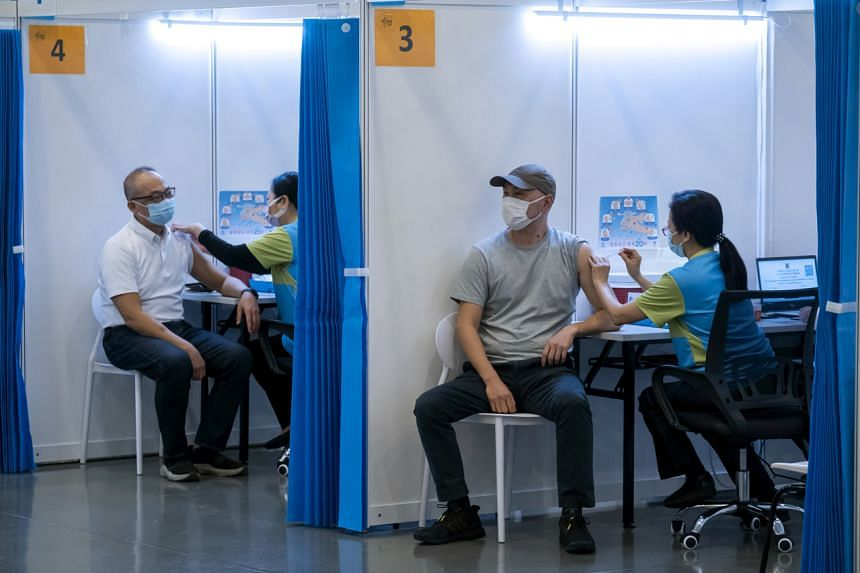 Only around 14 per cent of the population in Hong Kong has been fully vaccinated.