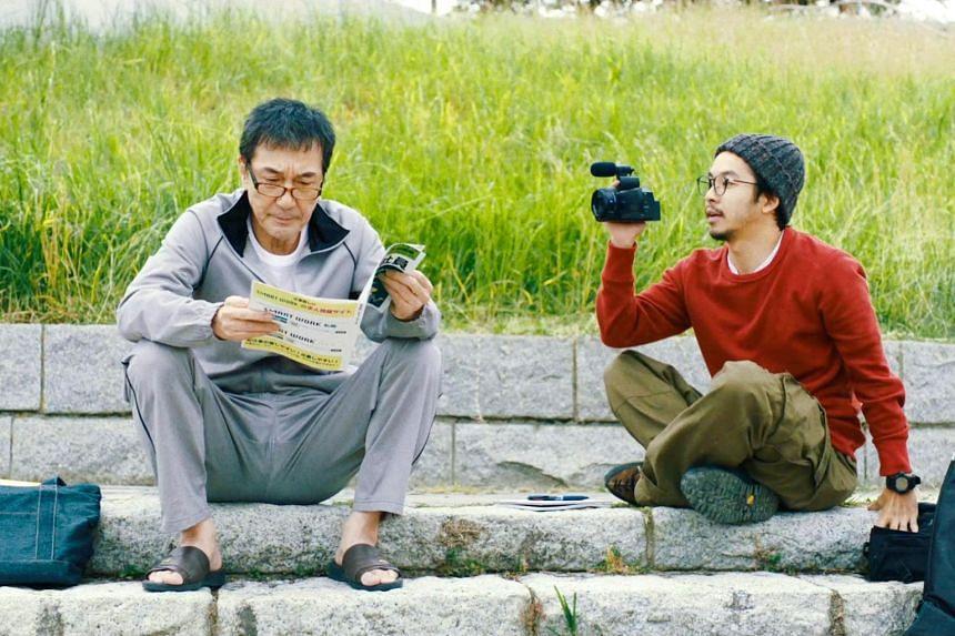 Still from the film Under The Open Sky starring Koji Yakusho left and Taiga Nakano.