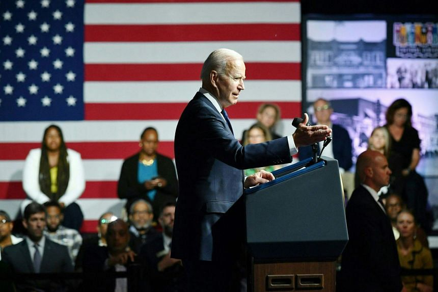 US President Joe Biden speaks during a commemoration of the 100th anniversary of the Tulsa Race Massacre at the Greenwood Cultural Centre in Tulsa, Oklahoma, on June 1, 2021.