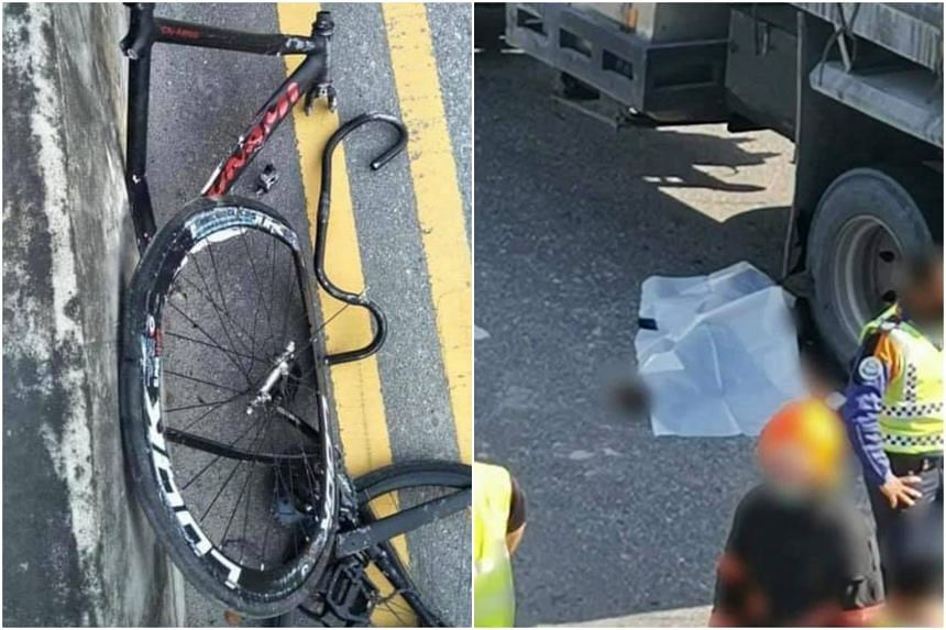The cyclist was pronounced dead at the scene.