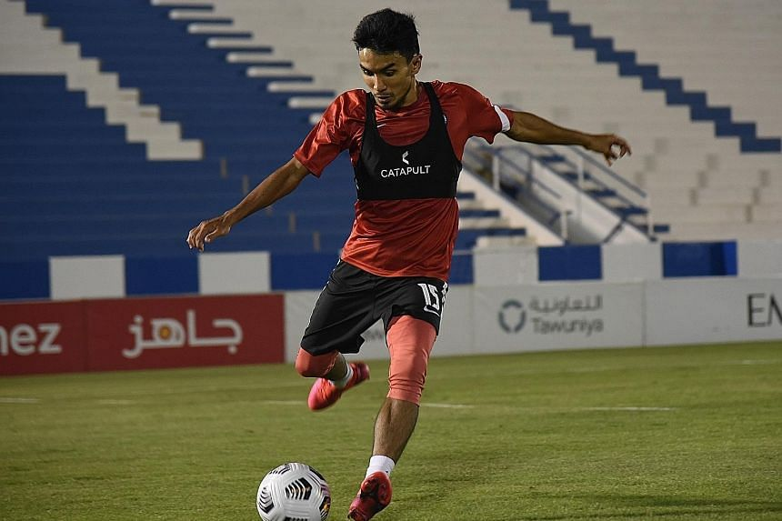 Yasir Hanapi, who will be Singapore's captain in the absence of Hariss Harun, believes the Lions are really motivated and will not let the trip to Saudi Arabia go to waste. PHOTOS: COURTESY OF FAS