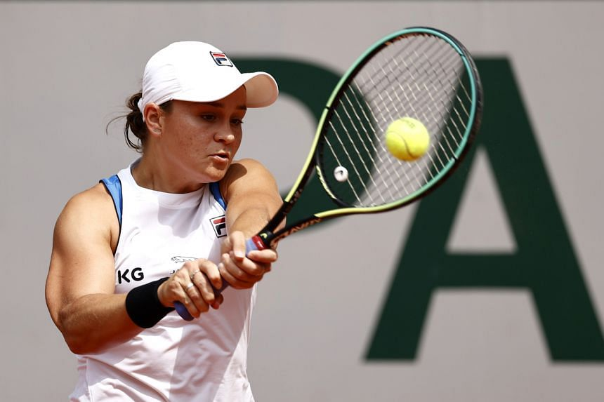 Ashleigh Barty had suffered a flare-up through her left hip during the weekend.
