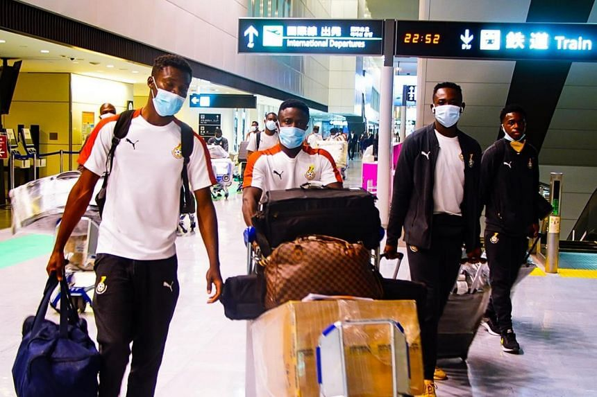The Ghana squad had left their destination with proof of negative Covid-19 tests within 72 hours of their departure.
