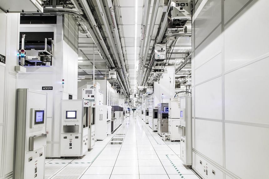 GlobalFoundries Singapore's highly automated cleanroom at its Woodlands facility. The company is ramping up capital expenditure to address the global demand for semiconductors.