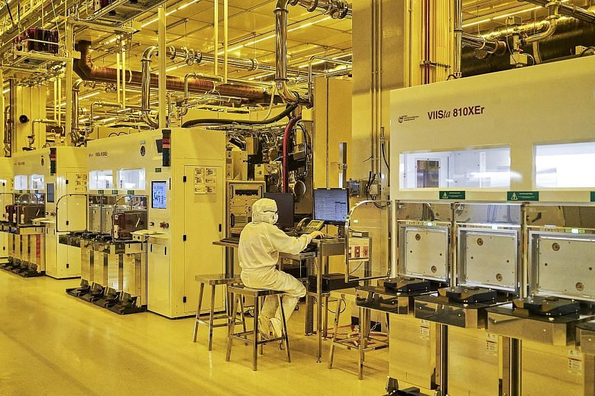 GlobalFoundries' semiconductor fabrication facility in Singapore. The company is doubling its annual average in capital expenditure to address the demand-supply mismatch.
