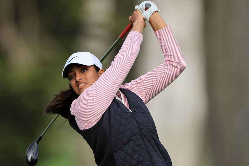 Megha Ganne, 17, recorded six birdies against two bogeys on the biggest stage in women's golf.