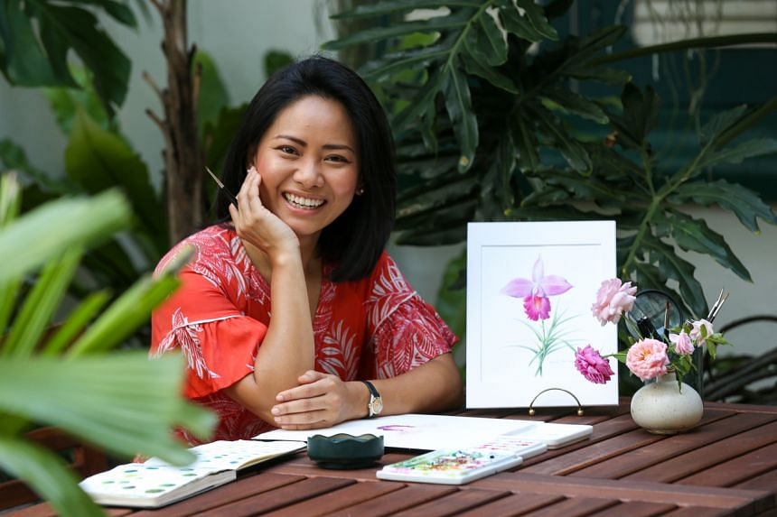 Ms Lucinda Law is a botany artist who has her own creative studio in Little India.
