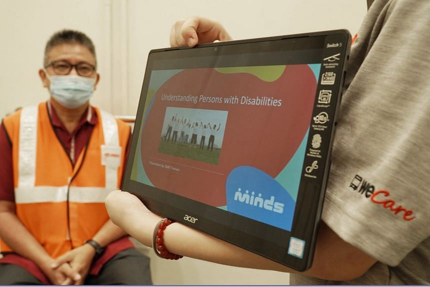 SMRT has partnered Movement for the Intellectually Disabled of Singapore and SPD to conduct training for its staff.