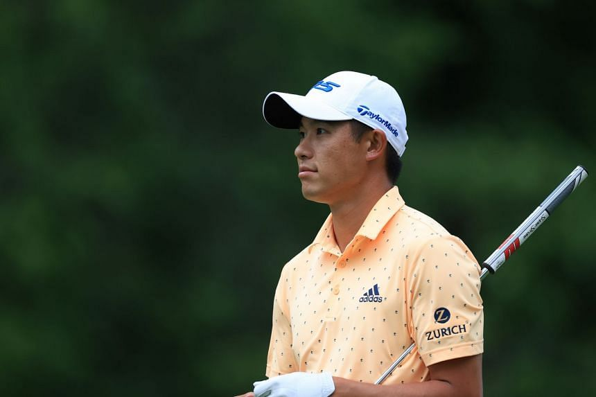 Collin Morikawa on the ninth hole during the first round of the Memorial tournament.