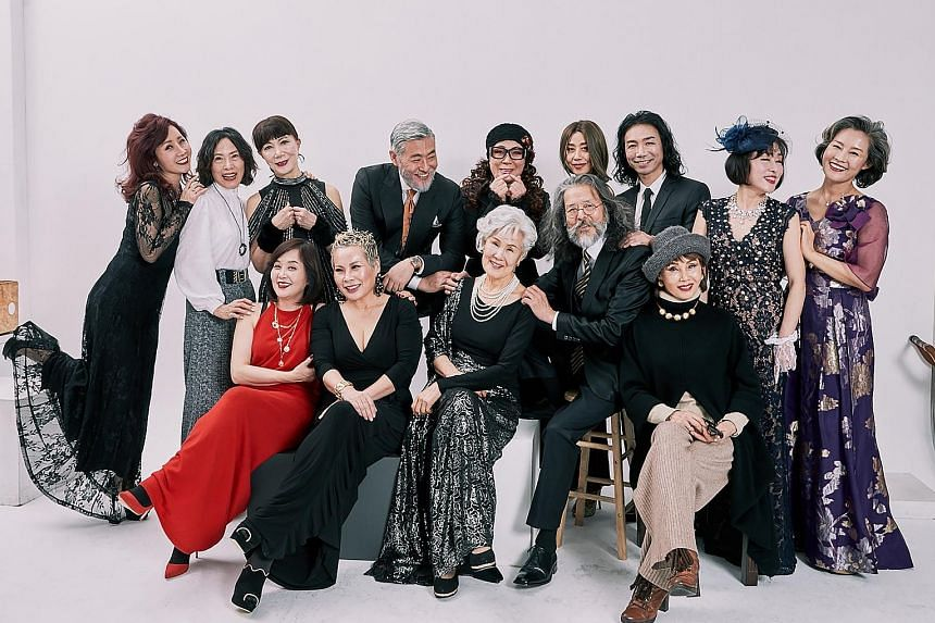 Older South Koreans, such as YouTube channel Korean Grandma's Park Mak-rye (above) and modelling school-agency Show Project's models (right), are reaching audiences through online videos, and challenging the idea that social media platforms are a you