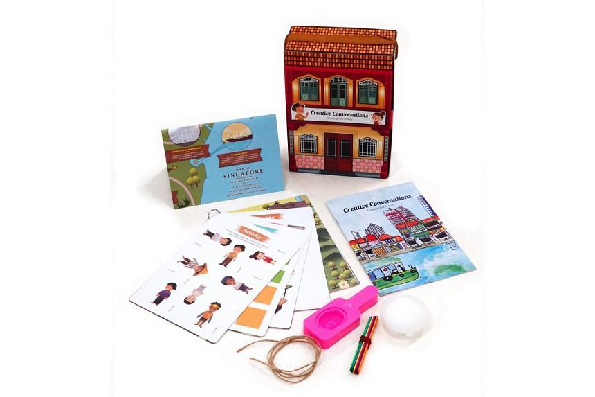 The kit contains an interactive story, activity cards, a map of Singapore, craft materials and an information booklet.