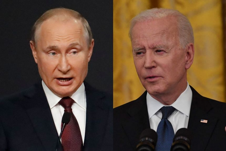 Vladimir Putin (left) is due to hold his first summit with US counterpart Joe Biden (right) on June 16.