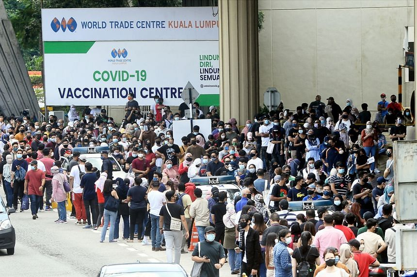 Around 7.2 per cent of Malaysia's population has received at least one dose of the Covid-19 vaccine.