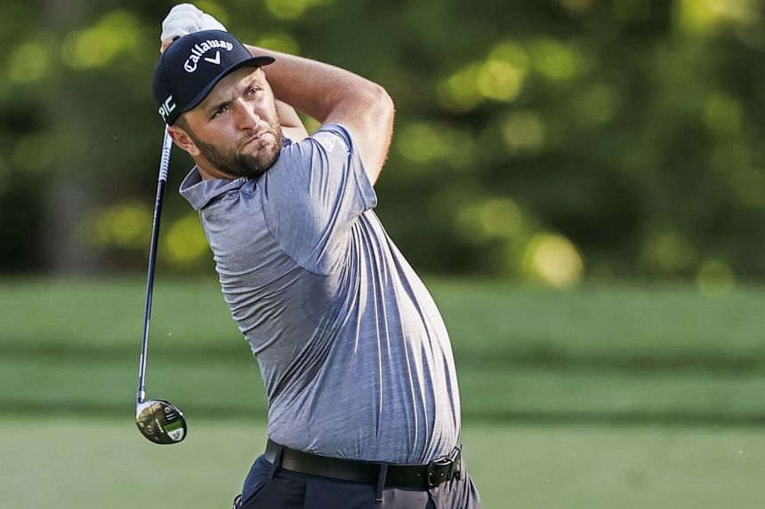 Jon Rahm of Spain during the second round of the Memorial Tournament in Ohio on Friday. He leads by two strokes.