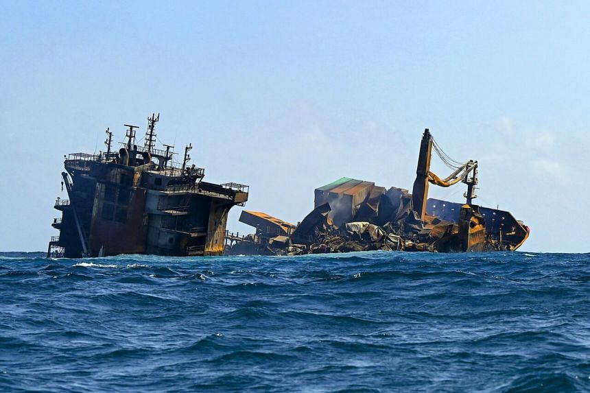 The X-Press Pearl Pearl has been slowly sinking into the Indian Ocean since June 2, after a fire that raged for nearly two weeks.