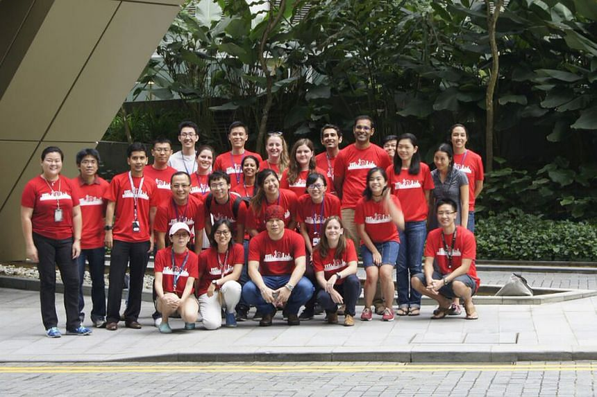 The team of around 30 scientists from the Agency for Science, Technology and Research collecting samples around Singapore in 2017.
