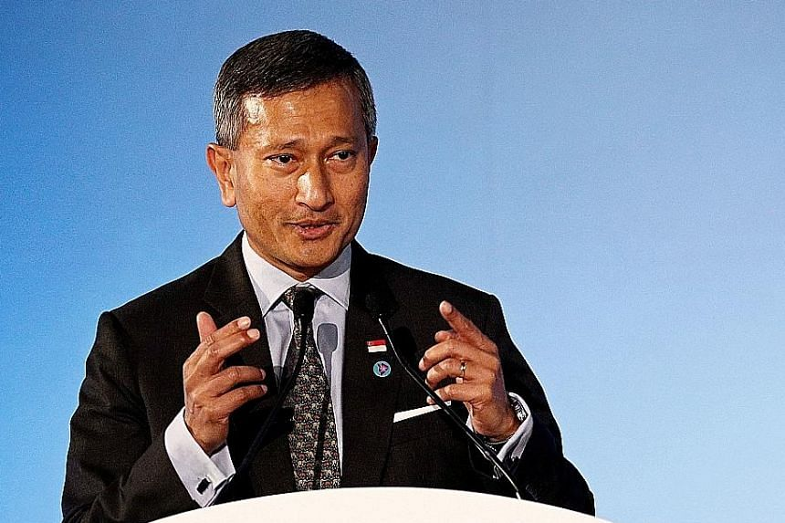 During his visit to China, Singapore Foreign Minister Vivian Balakrishnan (above) will have a bilateral meeting with Chinese Foreign Minister Wang Yi, who will also host him and his Asean counterparts at a dinner.