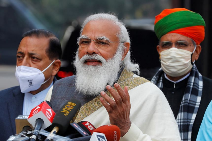 Prime Minister Narendra Modi said that the federal government would take over the task of vaccination from state governments.