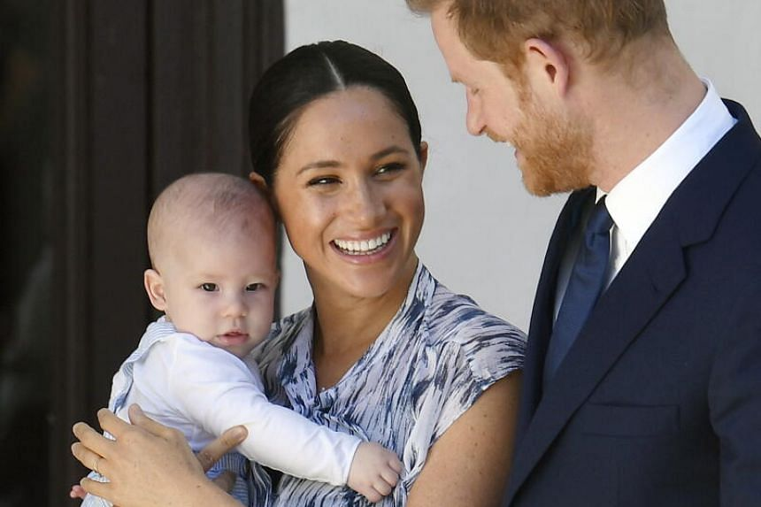 Harry and Meghan, holding their son Archie, in Cape Town, South Africa, on Sept 25, 2019. Archie was born in 2019.