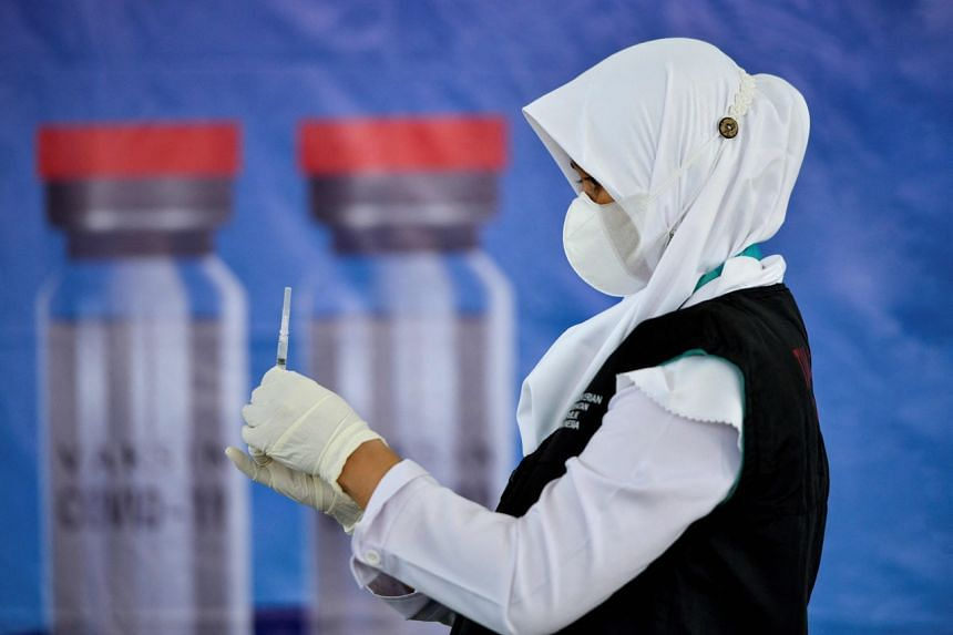 Indonesia is relying on China's Sinovac for the first tens of millions of vaccine shots before it receives more vaccines from AstraZeneca in the later months.