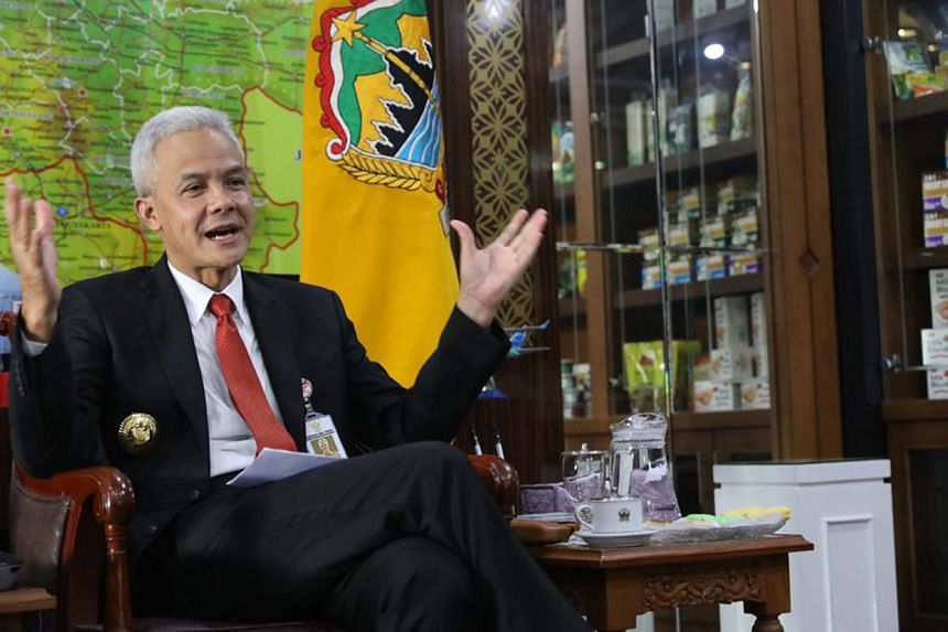Central Java Governor Ganjar Pranowo declined to comment on whether he is eyeing the presidency.