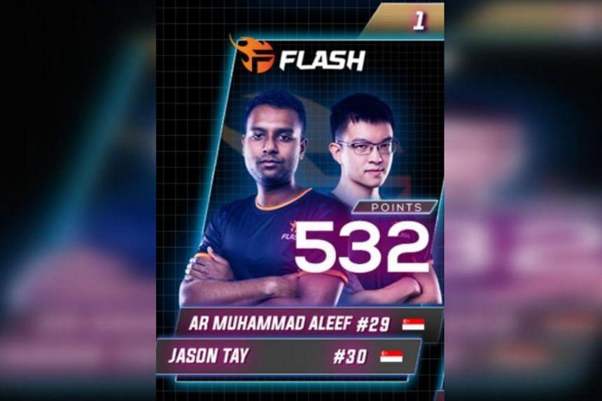 "Team Flash's Arr Muhammad ""Hamilton"" Aleef and Jason Tay scored 532 points."