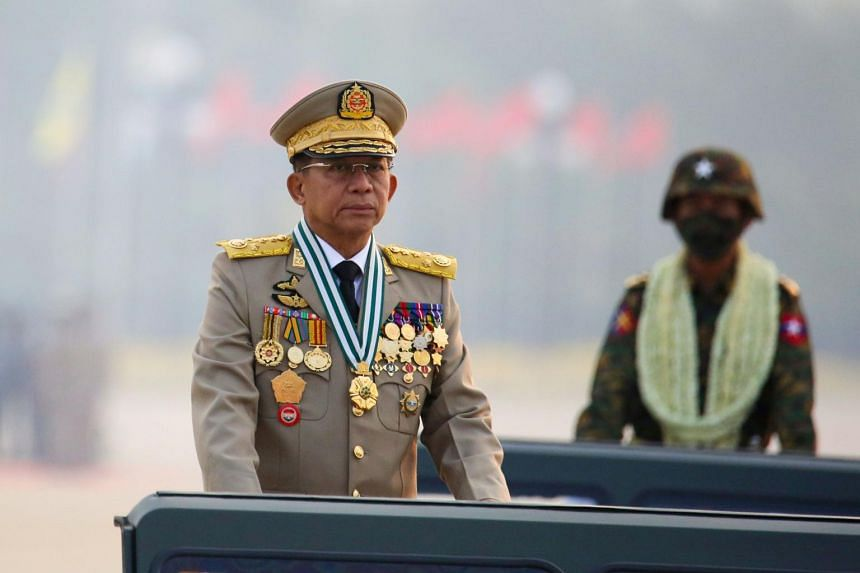 Junta leader Min Aung Hlaing was quoted as telling the Chinese ambassador that Myanmar is willing to coordinate the implementation of the consensus.