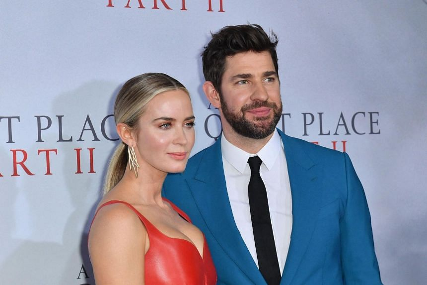 Emily Blunt (left) and John Krasinski attend Paramount Pictures' A Quiet Place Part II world premiere in New York City on March 8, 2020.