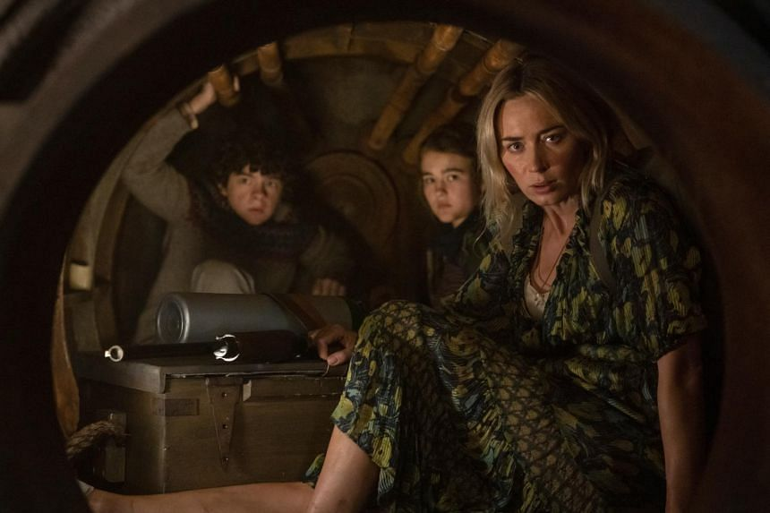 (From left) Noah Jupe, Millicent Simmonds and Emily Blunt in A Quiet Place Part II.