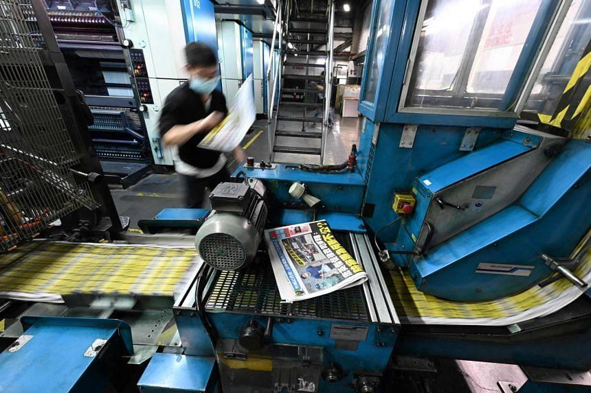 Authorities last year raided the newsroom of the pro-democracy Apple Daily.
