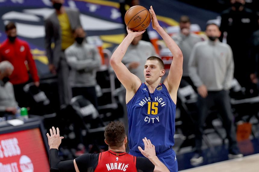 Nikola Jokic's 2020/2021 campaign has seen him average 26.4 points per game with 8.3 assists and 10.8 rebounds.