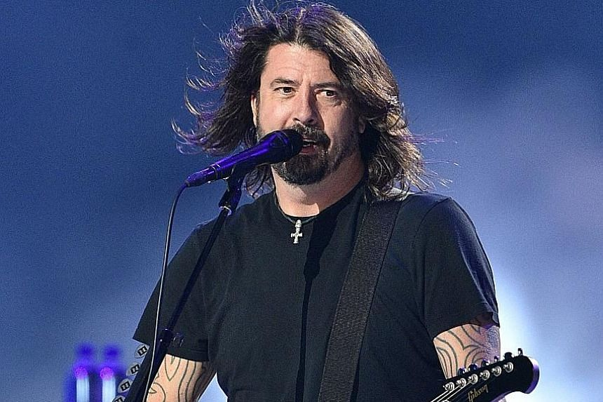 Foo Fighters frontman Dave Grohl at the taping of the Vax Live fund-raising concert at SoFi Stadium in California last month. The band will perform at New York's Madison Square Garden later this month.