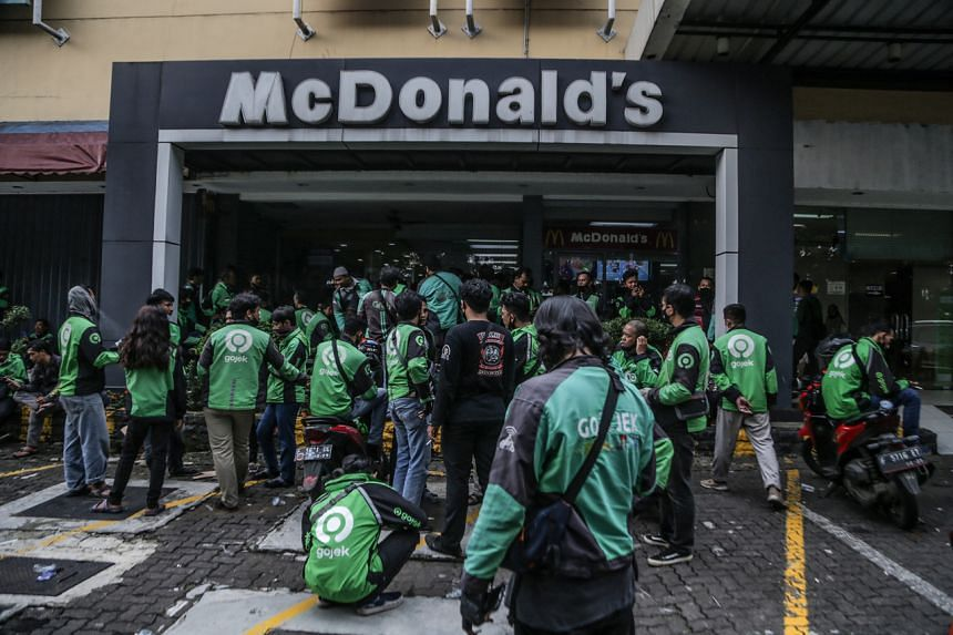 Local media said five stores in Jakarta were shut over BTS-meal orders.
